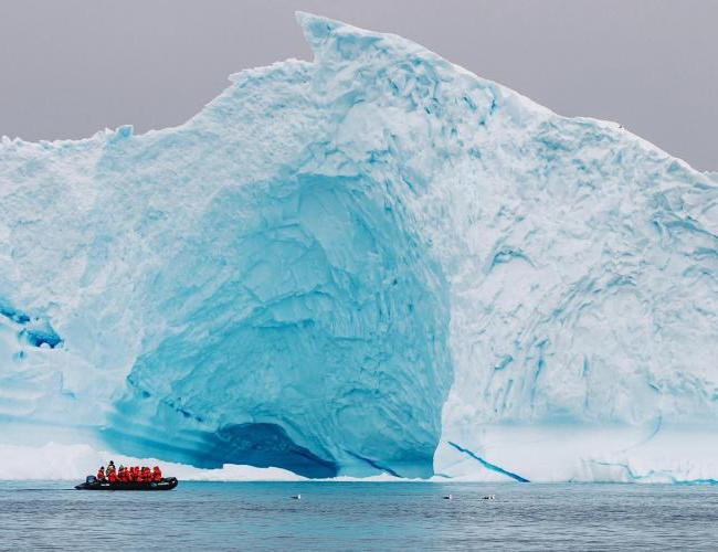 Winter Break a senior went with National Geographic to Antarctica