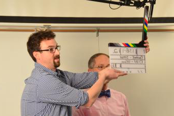 Slate Board being used during movie filming